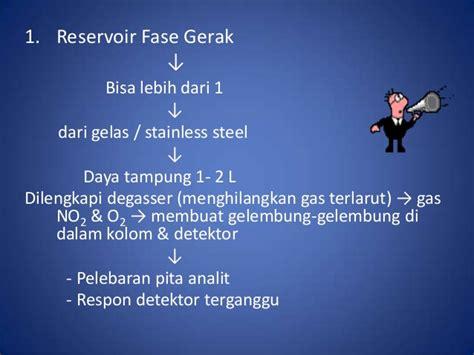 Detektor Gerak kromatografi hplc ppt