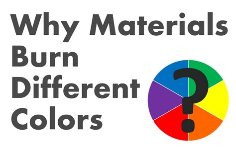 burns in different colors why materials burn different colors