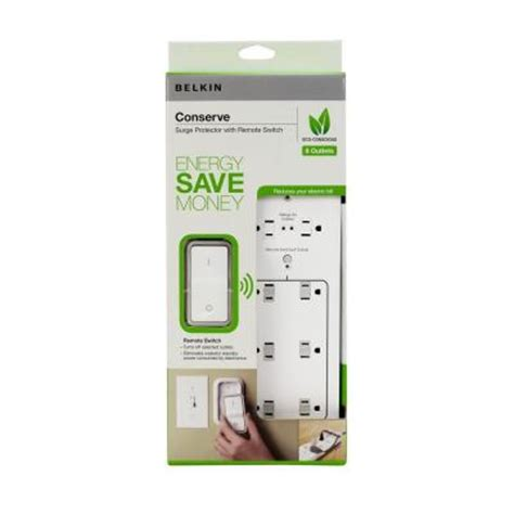 belkin 8 outlet conserve surge protector with remote