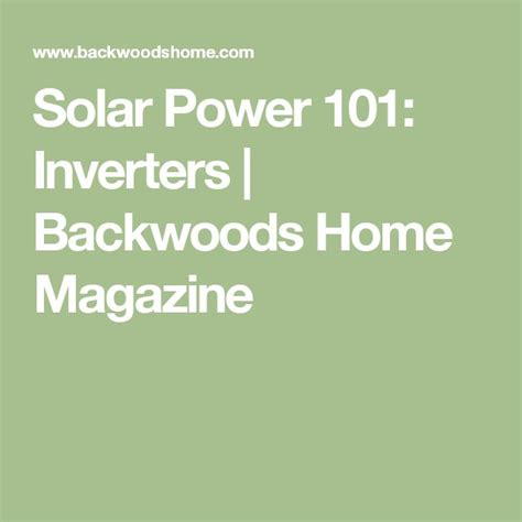 17 best ideas about solar power inverter on