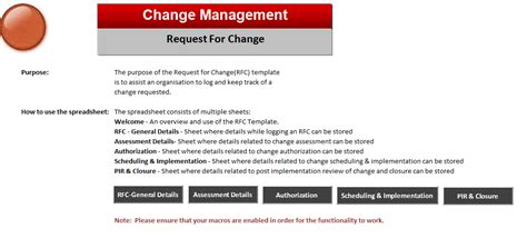 itil change management process template itil process management images