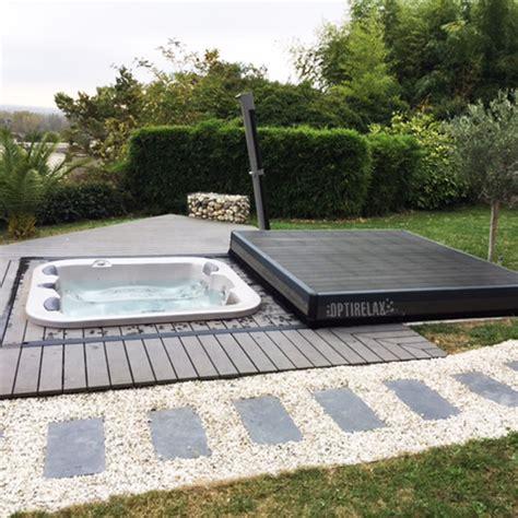 terrassen whirlpool whirlpool abdeckung opti move spa optirelax 174