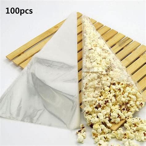 clear chocolate 100pcs cone clear sweet chocolate candy cupcake wrapper