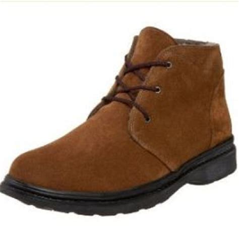 wide mens boots nib pajar max medium brown suede sheepskin lined ankle