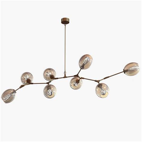 bobble 3d model adelman globe branching chandelier 3d model