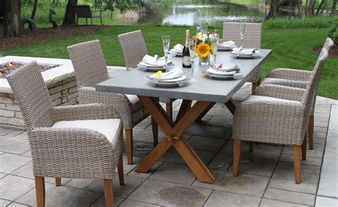 outdoor interiors tna2000 20 in round teak outdoor accent teak wicker furniture collection from outdoor interiors
