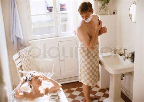 woman and man in bathroom 169 john dowland altopress maxppp woman taking bath man