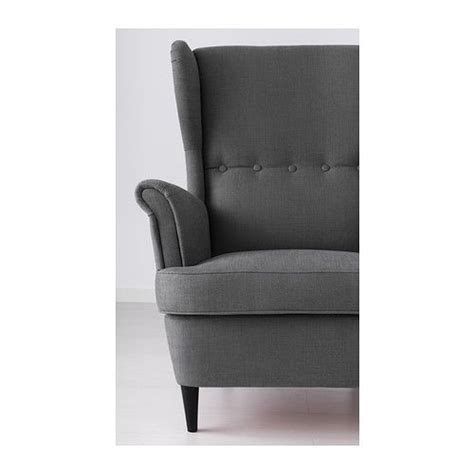 ikea grey wingback chair strandmon fauteuil 224 oreilles svanby gris ikea