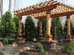 Anchoring a free standing patio cover to stone block or brick piers