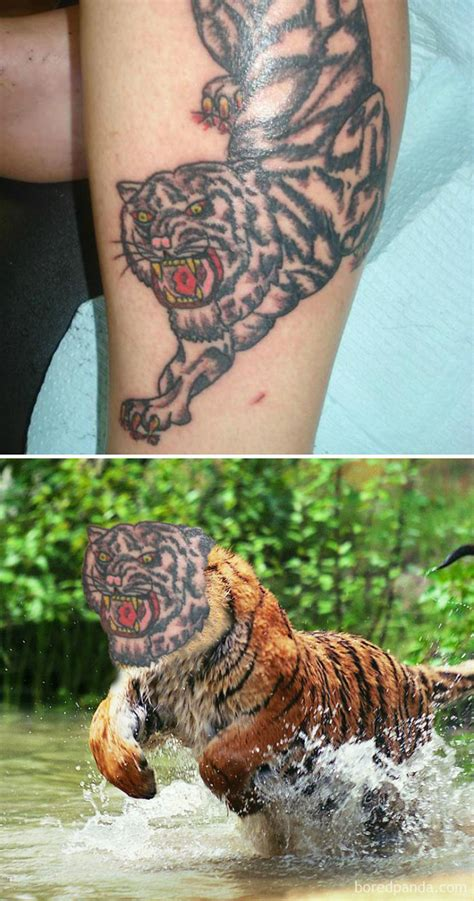 tattoo fail tiger 15 terrible tattoo face swaps that show how bad some