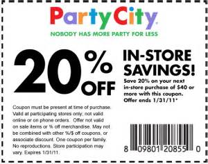 Printable Jcpenney Coupons Party City Coupons Printable Download Not Expired Codes