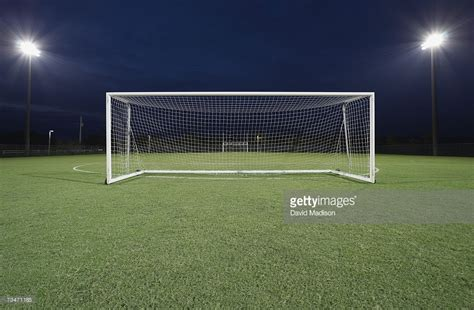 Soccer Goal soccer goal on field at stock photo getty images