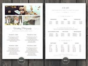 free photography pricing guide template free business card credit card with mockup template