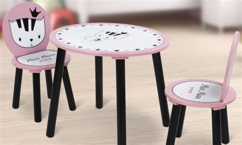 tavolo sedie bimbi set tavolino con 2 sedie per bimbi groupon goods