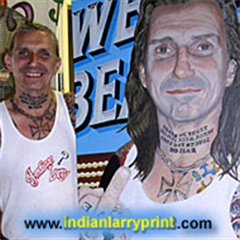 tattoo on indian larry s neck indian larry tattoo pics photos pictures of his tattoos