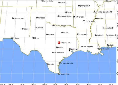 temple texas map map of temple texas my