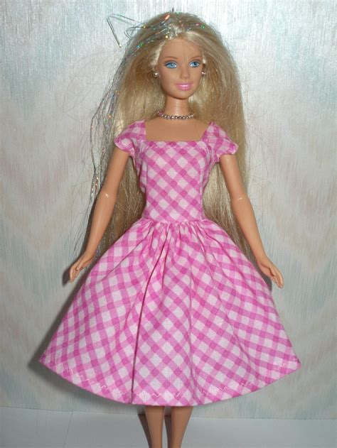 Handmade Doll Clothes - handmade doll clothes pink plaid dress