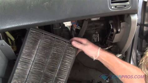 air cabin filter replacement   acura mdx youtube