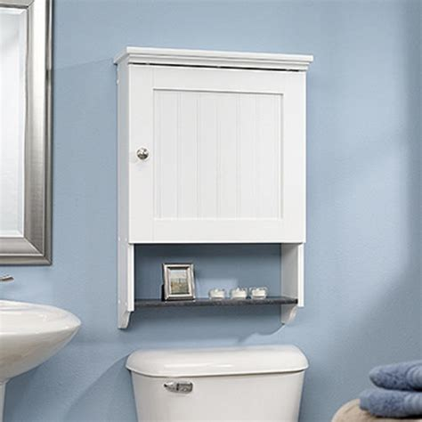 menards bathroom storage cabinets sauder bath soft white wall cabinet at menards 174