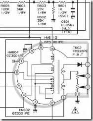 resistor abl flyback service tv sharp