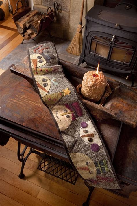 primitive quilts primitives and snowman on pinterest