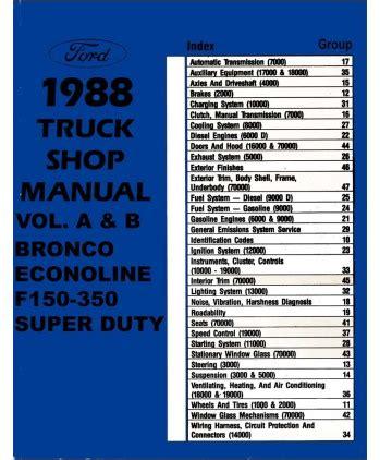 1988 Ford F150 F350 Light Duty Truck Amp Econoline Body