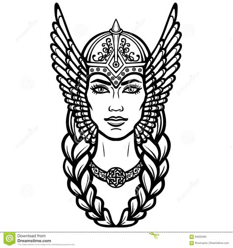 valkyrie cartoons illustrations vector stock images