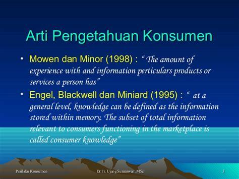 Perilaku Konsumen 2 Mowen Minor perilaku konsumen prof ujang 6 knowledge