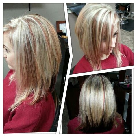 pictures of edgy blonde red edgy quot lob quot red and blonde beauty of hair and makeup