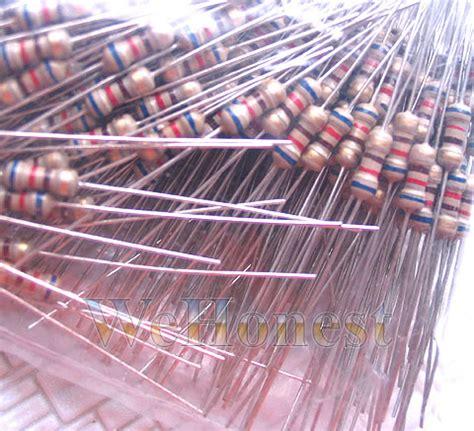 Resistor R18w 620 Ohm Carbon 100 pcs 620 ohm resistors use 3v leds or bulbs on 12v ebay