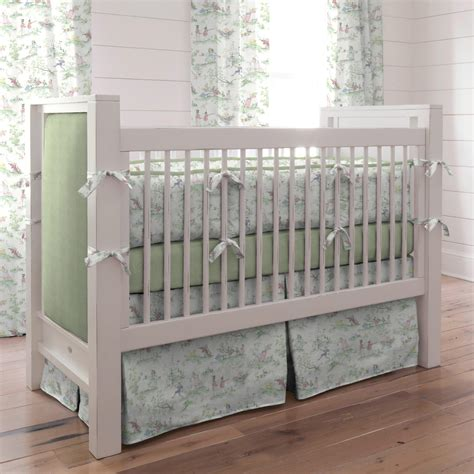 Green Crib Bedding by Green Nursery Rhyme Baby Bedding Collection