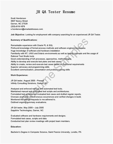 tester resume samples visualcv resume samples database