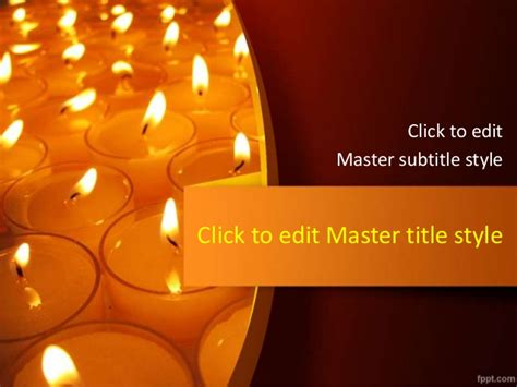 Festival Of Lights Powerpoint Template Free Download Memorial Service Slideshow Powerpoint Template