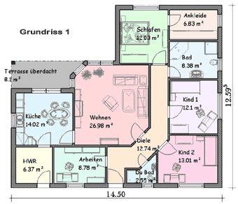 Ankleidezimmer Grundriss by Lbb Massivhaus Bungalow Schl 252 Sselfertig Bauen