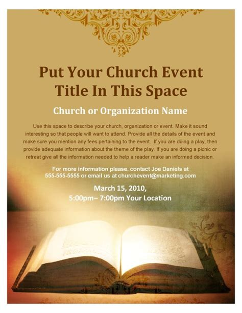 Bbq Church Flyer Template Flyer Templates Religious Flyer Templates Free
