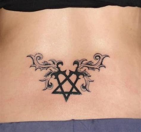 heartagram tattoo heartagram design for lower back tattoomagz