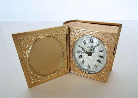 details  vintage seth thomas alarm clock book pearl