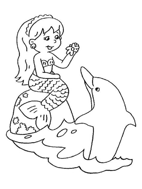 chibi mermaid and her friend dolphin coloring pages chibi