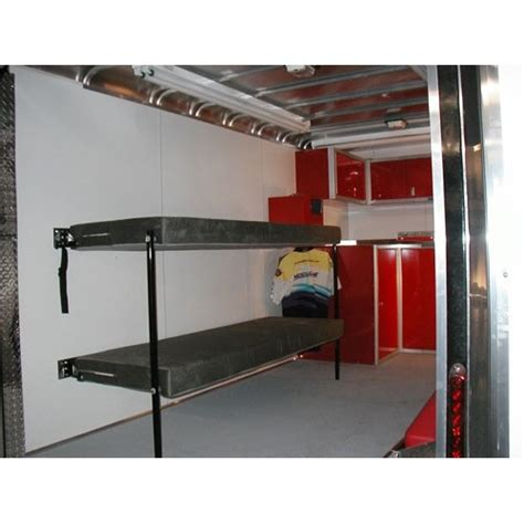 collapsible bunk beds fold trailer cer beds moduline cabinets