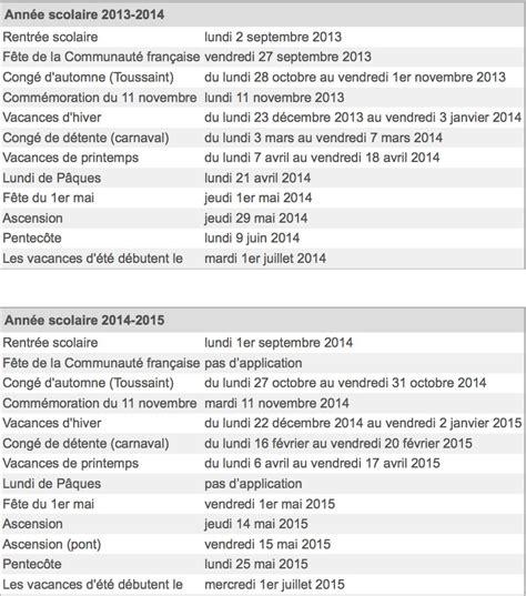 Calendrier Congés 2017 Calendrier Cong 195 169 S 2014 Belgique