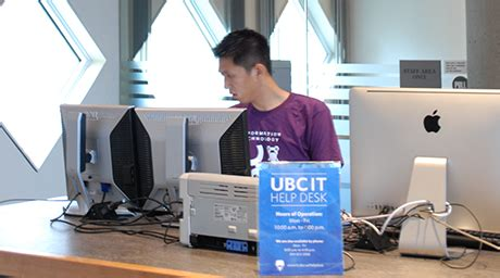 Cbp Help Desk by Ubc It Help Desk In Koerner Library About Ubc Library