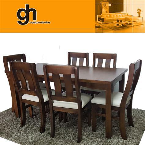 mesas y sillas madera 6 sillas y mesa para cocina y comedor en madera maciza gh