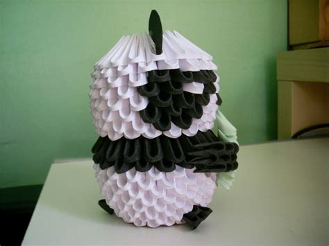 How To Make A 3d Origami Panda - 3d origami panda wallpaper