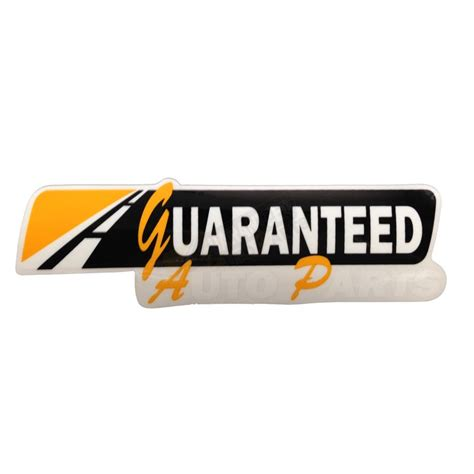 Auto Decals Letters by Guaranteed Auto Parts Decal 10 Quot White Letters 50201
