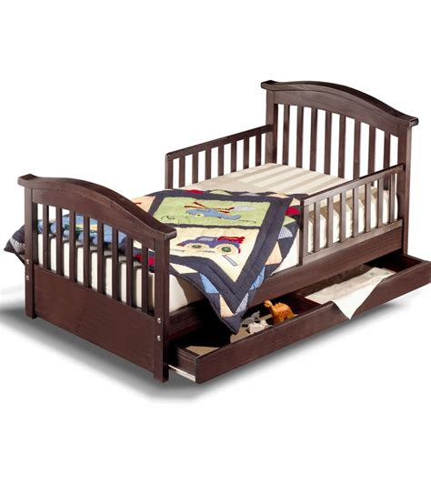 toddler bed espresso sorelle joel solid pine toddler bed espresso