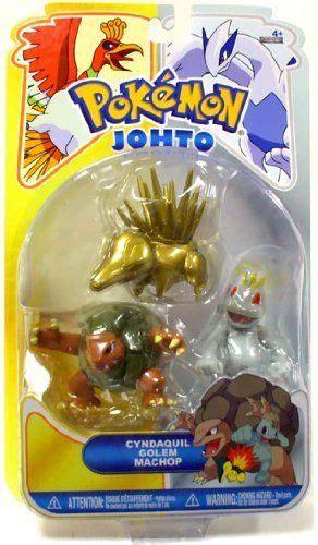 Figure Jakss Chatot heartgold soulsilver series 16 basic figure 3pack gold cyndaquil golem machop by