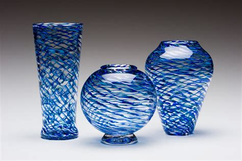 Glass Vase by Ripple Vases By Kenny Pieper Glass Vase Artful Home
