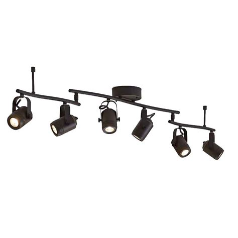 allen roth 4 head decorative track light shop allen roth tyslow 6 light 45 8 in bronze dimmable