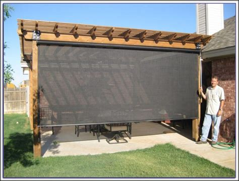 roll up blinds for patio patio roll up shades patios home decorating ideas