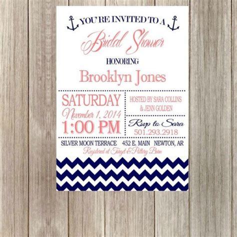 diy printable bridal shower invitations diy printable nautical bridal shower invitation with